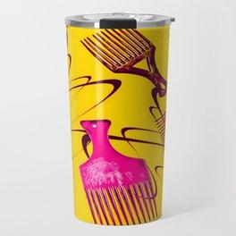 Afro Comb-Orange Travel Mug