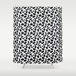 BLACK AND WHITE Print Shower Curtain