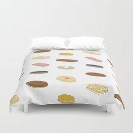 biscui - biscuit pattern Duvet Cover