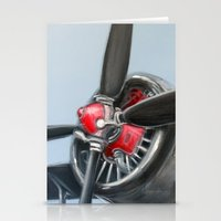 airplane Stationery Cards featuring Airplane by Renato Verzaro