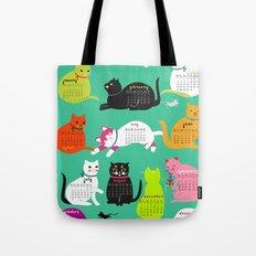 Cats Calendar 2017 Tote Bag