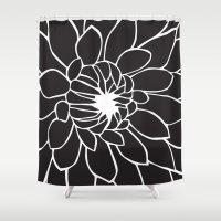 dahlia Shower Curtains featuring Dahlia by Gemma Bullen Design