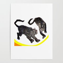 Two Tigers jGibney The MUSEUM Society6 Gifts Poster