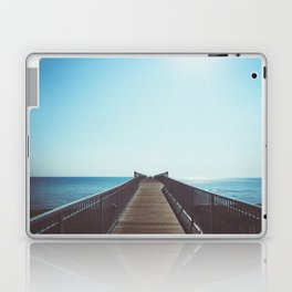 boardwalk leading into the great lakes Laptop & iPad Skin