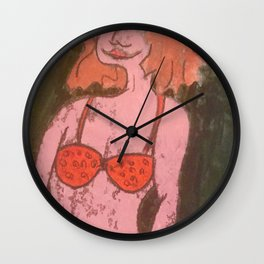 Lady in Red #1 Wall Clock