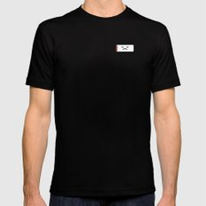 Sad Battery MEDIUM Black Mens Fitted Tee