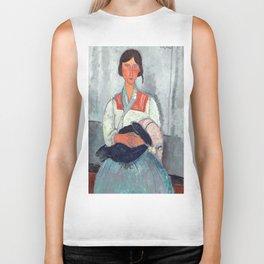 """Amedeo Modigliani """"Gypsy Woman with Baby"""" Biker Tank"""