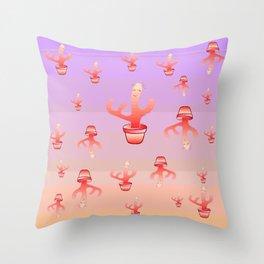 Cactus Girls Throw Pillow