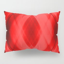 Hot triangular strokes of intersecting sharp lines with scarlet triangles and stripes. Pillow Sham