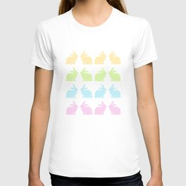 LOVELY COLORFUL EASTER BUNNIES T-shirt