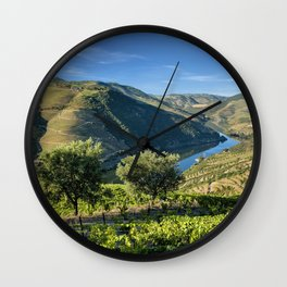 Vale do Douro vineyards Wall Clock