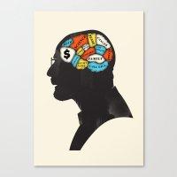 heisenberg Canvas Prints featuring Heisenberg by Wharton