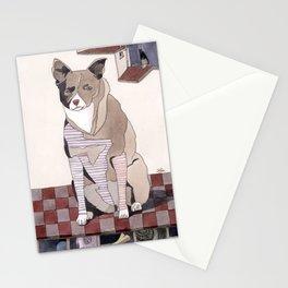 Striped Dog Stationery Cards