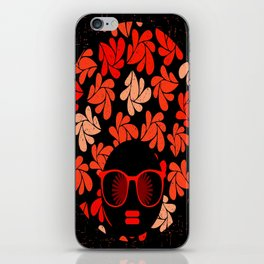 Afro Diva : Coral Red iPhone Skin