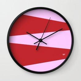 PINK CIRCUS DREAM #red #minimal #art #design #kirovair #buyart #decor #home Wall Clock