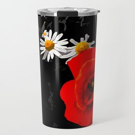 Summer flowers POPPIES, DAIRIES, CORNFLOWERS #1 Travel Mug