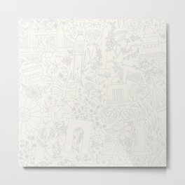 DC NYC London - Cream Metal Print