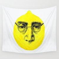 lemon Wall Tapestries featuring John Lemon by KatePowellArt