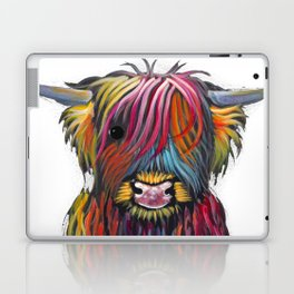 Scottish Highland Cow ' BRaVEHEaRT 2 ' by Shirley MacArthur Laptop & iPad Skin