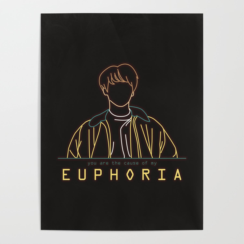 bts jungkook euphoria line art posters