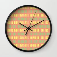 grunge Wall Clocks featuring Grunge by C Designz