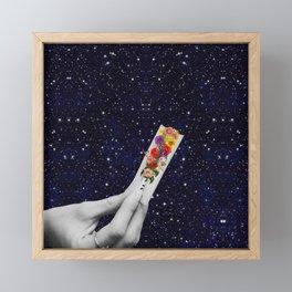 Rolling Flower in Space Framed Mini Art Print
