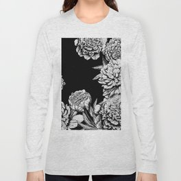 FLOWERS IN BLACK AND WHITE Long Sleeve T-shirt