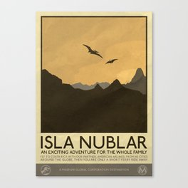 Silver Screen Tourism: Isla Nublar / Jurassic Park World Canvas Print