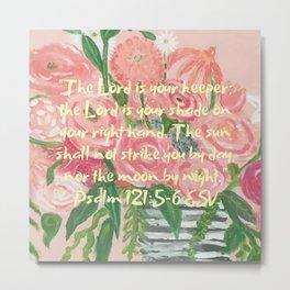 Fingerpainted Flowers Metal Print
