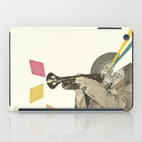 death note iPad Cases featuring Blue Note by Cassia Beck