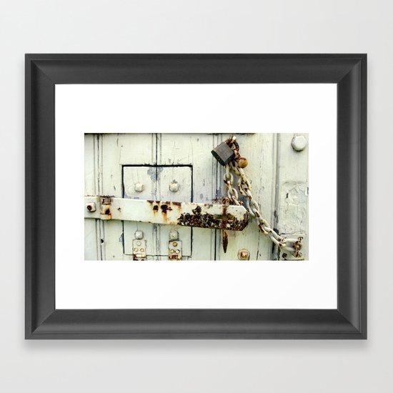 Latched Framed Art Print