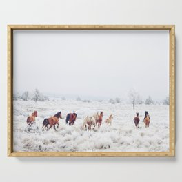 Winter Horses Serving Tray