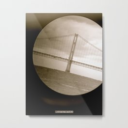Mackinaw City Bridge Metal Print