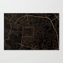 Chiang Mai map, Thailand Canvas Print