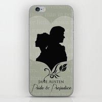 pride and prejudice iPhone & iPod Skins featuring Pride and Prejudice by Clarc