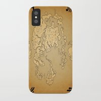 avatar the last airbender iPhone & iPod Cases featuring Avatar Last Airbender Map by KewlZidane