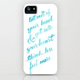 Think Less (blue version) iPhone Case