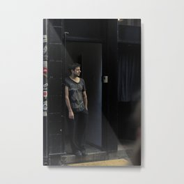 Waiting At The Door. Metal Print