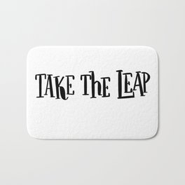 Take The Leap: white Bath Mat