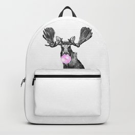 Bubble Gum Moose in Black and White Backpack