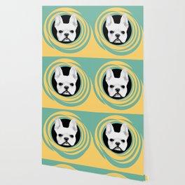 Frenchie Retro Disco Dog #3 #decor #art #society6 Wallpaper