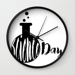 Science day - Experiments Fail Learn Repeat Wall Clock