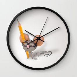 Drawing mouse Wall Clock