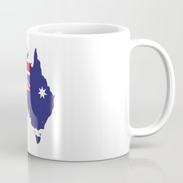 Australia Flag Map Coffee Mug