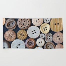Wooden Buttons Beach Towel