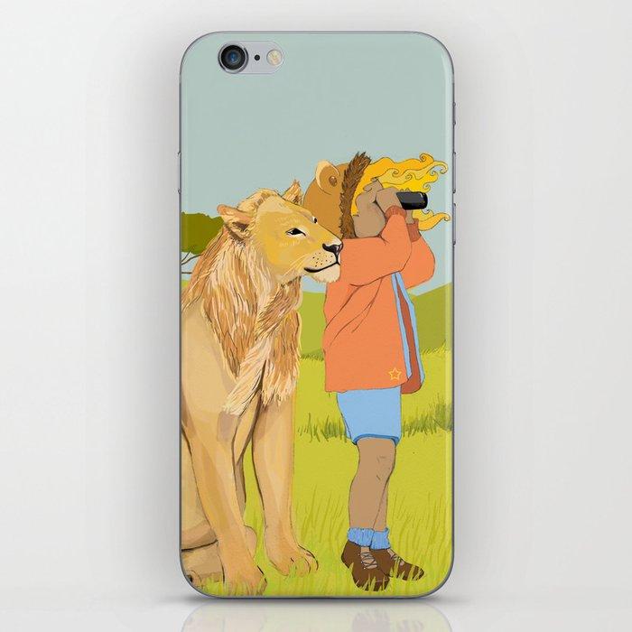 Lion Girl iPhone Skin