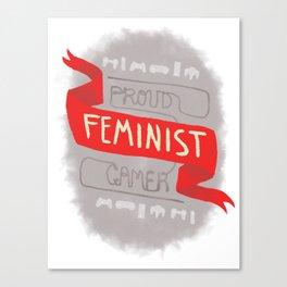 Proud Feminist Gamer Canvas Print