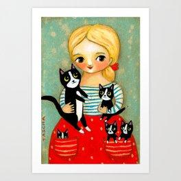 Pockets full of Kittens! Art Print