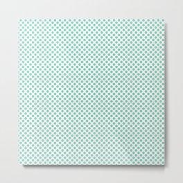 Lucite Green Polka Dots Metal Print