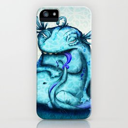 blue monster iPhone Case